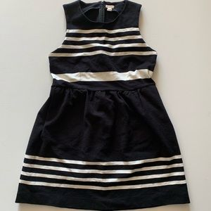 J. Crew black and white striped dress size Medium